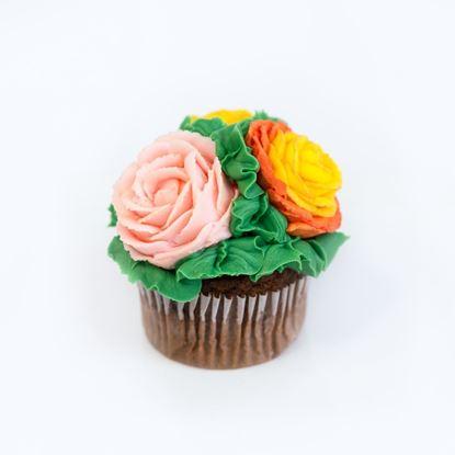 Gourmet Buttercream Rose Topped Cupcakes (Half Dozen)